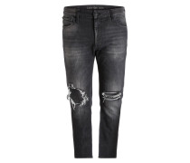 Destroyed-Jeans Skinny Tapered-Fit