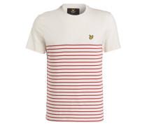 T-Shirt - rot/ creme gestreift
