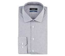 Hemd Tailored-Fit - grau gestreift