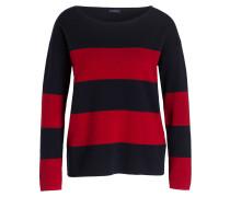 Pullover - rot/ navy gestreift