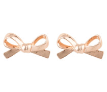 Ohrstecker SKINNY MINI BOW - roségold