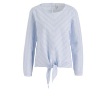 Bluse - hellblau/ weiss