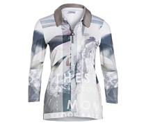 3/4-Poloshirt SWANTON - grau/ ecru
