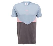 T-Shirt - hellblau/ rosa/ taupe