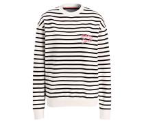 Sweatshirt - schwarz/ creme gestreift