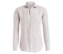 Leinenhemd Comfort-Fit - beige