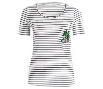 T-Shirt - weiss/ marine gestreift