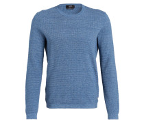 Pullover MUSTINO in Strukturstrick - blau