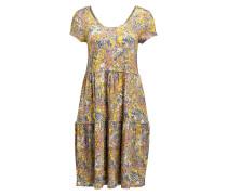 Kleid - gelb/ blau/ braun