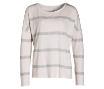 Sweatshirt - creme/ grau gestreift