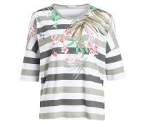 T-Shirt - weiss/ grün gestreift