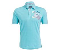 Piqué-Poloshirt Regular-Fit - türkis