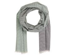 Schal - grün/ grau gestreift