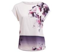 T-Shirt - ecru/ lila/ dunkelgrau
