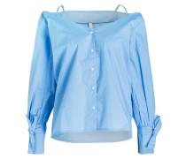 Off-Shoulder-Bluse SABANNAH - hellblau