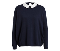 Oversized-Pullover - navy