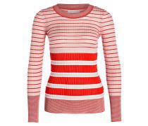 Pullover - hellrosa/ rot gestreift