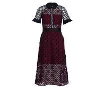 Kleid - marine/ bordeaux/ schwarz