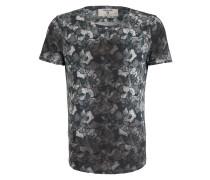 T-Shirt - grau/ dunkelgrün