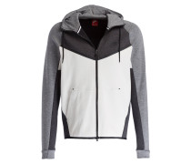 Sweatjacke TECH FLEECE - grau/ ecru