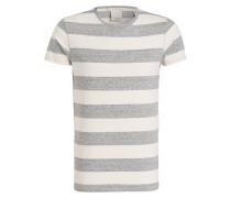 T-Shirt - creme/ grau gestreift
