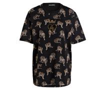 T-Shirt - schwarz/ beige/ braun
