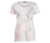 T-Shirt mit Paillettenbesatz - grau