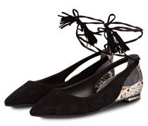 Cut-Out-Ballerinas - schwarz