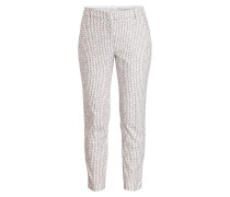 7/8-Hose - weiss/ taupe