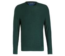 Feinstrickpullover - dunkelgrün