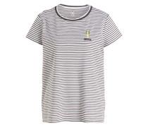T-Shirt SAVENA - weiss/ khaki