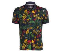 Poloshirt ENGADINA - dunkelblau/ rot/ grün