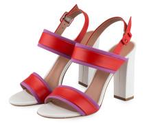 Sandaletten ADRIENNE - weis/ rot/ violett