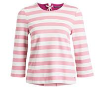 Sweatshirt LINNET - rosa/ weiss gestreift