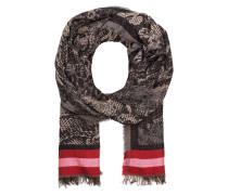Schal - schwarz/ rot/ beige