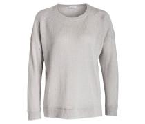 Pullover mit Paillettenbesatz - grau