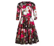 Kleid RACHEL - rot/ grün/ pink