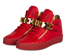 Hightop-Sneaker - rot