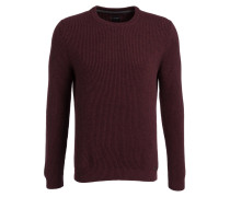 Lambswool-Pullover - bordeaux