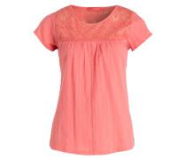 T-Shirt KORA mit Spitzeneinsatz - orange