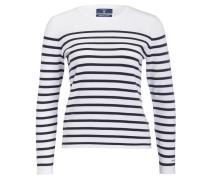 Pullover - marine/ weiss gestreift