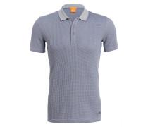 Piqué-Poloshirt POSER Slim-Fit - grau