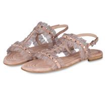 Sandale ELLE mit Schmucksteinbesatz - rosa