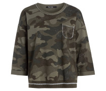 Sweatshirt mit 3/4-Arm - oliv/ khaki/ grün