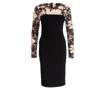 Kleid - schwarz/ beige