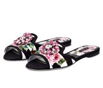 Sandalen - weiss/ schwarz/ rosa