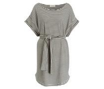 Kleid - offwhite/ schwarz gestreift