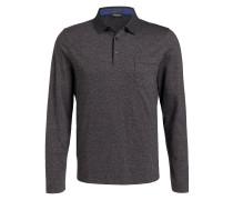 Piqué-Poloshirt - anthrazit meliert