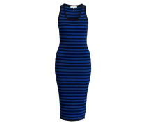 Kleid - royal/ schwarz gestreift