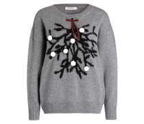 Pullover - grau/ schwarz/ weiss